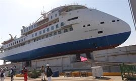 GREG MORTIMER was launched about nine months after its keel laying © SunStone Ships
