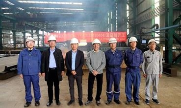 Construction of the first GG5G has officially started now with the first steel cutting © Jingling Shipyard