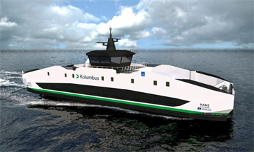 The new Ryfylke ferry will have the largest battery pack ever installed on a ferry of this size. © LMG Marin