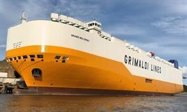 GRANDE NEW JERSEY is the fourth vessel in a seven-ship series Yangfan is building for the Grimaldi Group. © Grimaldi Group