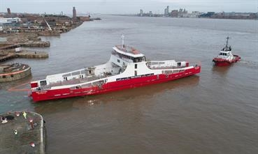 Red Funnel's dedicated freight ro-ro took to the water on 19 February © Red Funnel