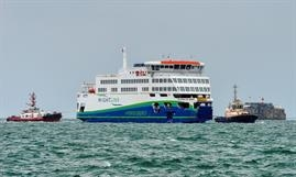 VICTORIA OF WIGHT today, 10 August, arrived in her new home waters © Maritime Photographic