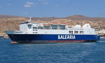 DUBA BRIDGE is on her way back to the Alboran Sea © Mike Barker