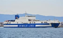 Grimaldi Group is entering the direct Continent-Ireland ro-ro ferry market with the scrubber-equipped EUROCARGO BARI. © Marc Ottini
