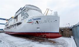 COSTA TOSCANA shares the same dimensions as the other members of the Helios/Excellence Class built by Meyer Werft and Meyer Turku, respectively. © Costa Cruises