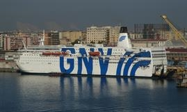 GNV AZZURRA is temporarily serving as an accommodation vessel in Brest, France © Selim San