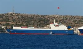 The Danish-built SAFFET BEY is one of four ro-ros operated by Ulusoy Shipping © Selim San