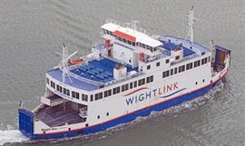 WIGHT SUN is one of three sister ships operating the Lymington-Yarmouth route. © Frank Lose