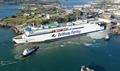 GALICIA undertaking berthing trials in Plymouth, a port from which she will normally not operate. © Brittany Ferries