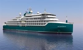 SH MINERVA will be the first expedition cruise ship to join resurrected Swan Hellenic. © Helsinki Shipyard