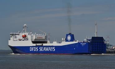 ANGLIA SEAWAYS - still displaying the old livery - has become too small for DFDS's requirements © Stefan Verberckmoes