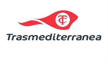 A new logo for Trasmediterranea - it appears that the brand name will be retained following the takeover by Armas.