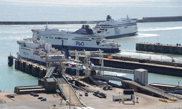 P&O Ferries carried record freight volumes between Dover and Calais during Q1 of 2017 - © Philippe Holthof