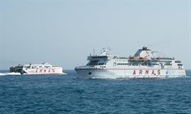 VOLCAN DE TIRAJANA and VOLCAN DE TABUIENTE are two Naviera Armas vessels currently serving La Estaca. © Frank Lose