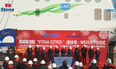 Today STENA ESTRID will touch the water at AVIC Weihai © Stena AB