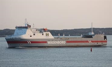 SLINGEBORG and SCHIEBORG will be supplemented by a third ship on the Gothenburg-Zeebrugge service, expected to be FIONIA SEAWAYS © Kai Ortel