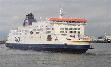 PRIDE OF KENT ran aground earlier this afternoon - the ship has meanwhile been refloated © Philippe Holthof