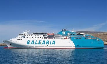 BAHAMA MAMA is undergoing her LNG retrofit at Gibdock © Mike Barker