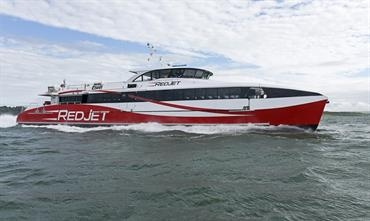 Red Funnel has invested heavily in its fleet, RED JET 6 being its latest addition.