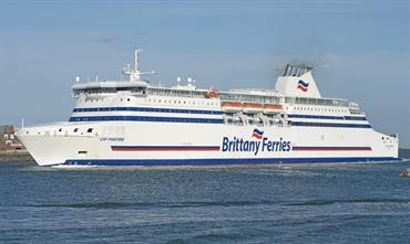 CAP FINISTERE is one of eight Brittany Ferries' ships serving Portsmouth. ©  Frank Lose