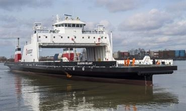 The ships to be built by Damen Shipyards Mangalia will follow the design of SEASPAN SWIFT and RELIANT © Seaspan Ferries
