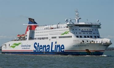 STENA SUPERFAST X will be renamed A NEPITA for her long-term bareboat charter to Corsica Linea. © Frank Lose
