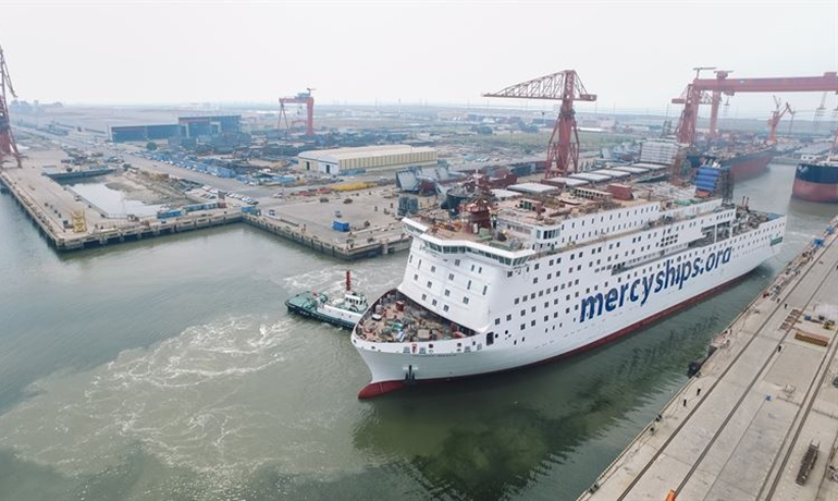 GLOBAL MERCY will undertake its official trials in December and is expected to be delivered by its Chinese builders during Q1 2021. © Stena RoRo