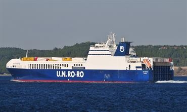 UN TRIESTE is one of twelve ships in the DFDS/U.N. Ro-Ro fleet to be equipped with scrubbers during 2019 © Marc Ottini