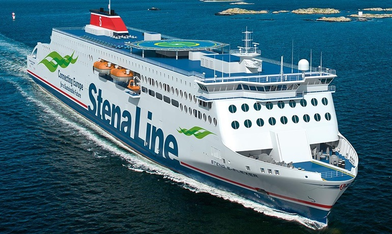 The third ship in the E-Flexer series will be delivered with a Brittany Ferries livery © Stena AB