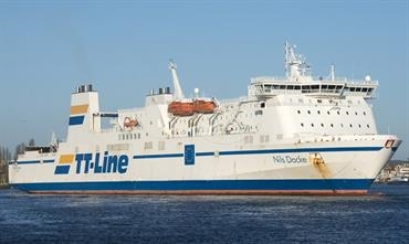NILS DACKE already serves Swinoujscie from Trelleborg and will make a weekly call at Bornholm - © Frank Lose