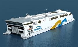 Like FRANCISCO, Buquebus's yet unnamed newbuild will be LNG-powered © Incat