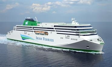 Flensburger's yard number 771 now has a name: W. B. YEATS © Irish Ferries