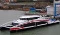 TWIN CITY LINER left the Isle of Wight on 11 January - its first stop is Dover © Wight Shipyard Co.