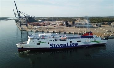 STENA FLAVIA and SCOTTISH VIKING now operate from the new ro-ro port of Norvik, just north of Nynäshamn. © Stockholms Hamnar