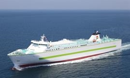 FERRY RITSURIN and her three sister ships have continued to operate in freight-only mode. © Ocean Trans Co.