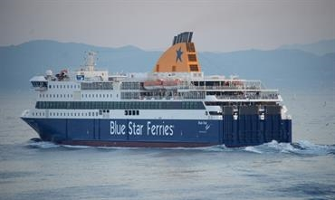 BLUE STAR PATMOS is the last ship specifically built for Attica in 2012 © Philippe Holthof