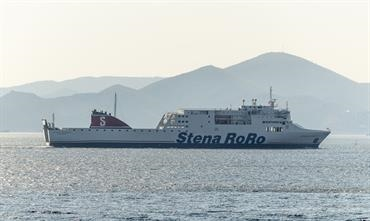 STENA EGERIA: back in Europe and chartered by Adria Ferries for a period of one year © George Giannakis
