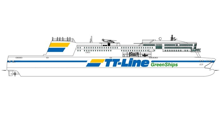 TT-Line's new dual fuel ferry to be built by Jinling. © TT-Line