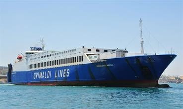 EUROCARGO NAPOLI has been introduced on the new triangular Civitavecchi-Olbia-Cagliari-Civitavecchia service © Marc Ottini