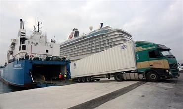 As part of Gibraltar's 'no deal' contingency plan, the Gibraltar Port Authority has invested in a new ro-ro ramp © Gibraltar Port Authority