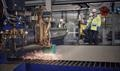 First steel cutting for Kvarken Link's newbuild © Kvarken Link