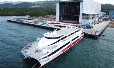 RIKULAU was the first of two 550-passenger vessels constructed at Austal's Philippines shipyard in Balamban, Cebu © Austal