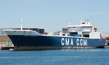 The Stena RoRo-owned MONT VENTOUX already operates the Marseille-Rades service for CMA CGM © Frank Lose