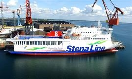STENA VINGA looking resplendent in her new livery © Stena Line