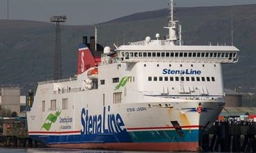 STENA LAGAN is one of two Visentini Class vessels to be lengthened by Sedef Shipyard. © Frank Lose