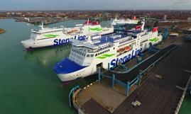Stena Line's Trelleborg-Rostock route is operated by SKÅNE and MECKLENBURG-VORPOMMERN which are regularly supplemented by SASSNITZ. © JustFerries