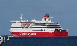 SPIRIT OF TASMANIA I and II will come on the market following the introduction of larger tonnage in 2021 © Dale Crisp